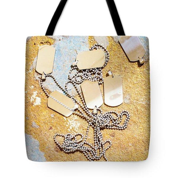 Tags Of War Tote Bag