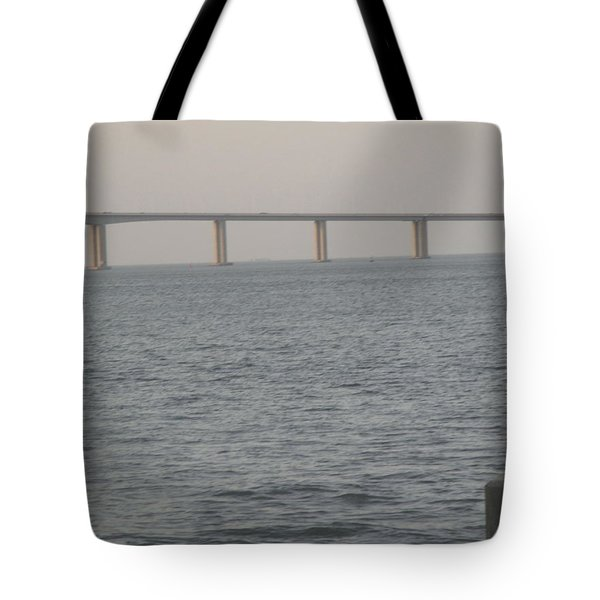 Tagus River Seen From The Park Of Nations In Lisbon Tote Bag