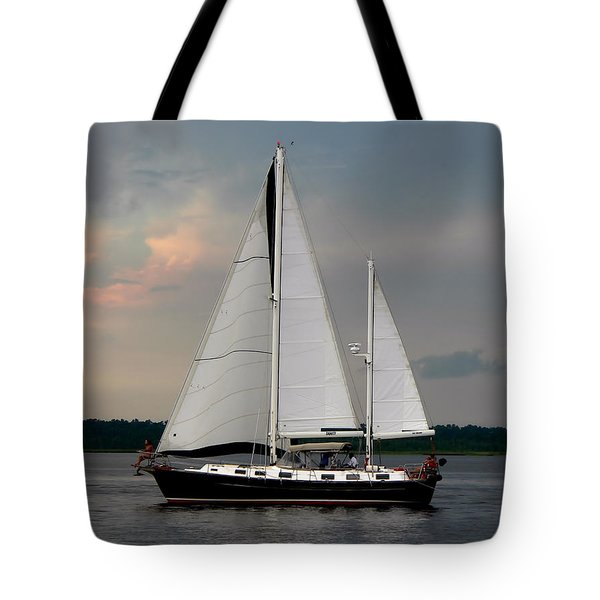 Tahiti Under Sail Tote Bag