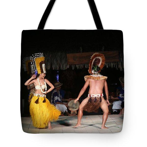 Tahitian Dancers Tote Bag