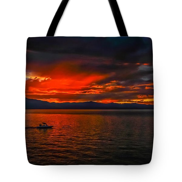 Tote Bag featuring the photograph Tahoe Boat Ride by Mitch Shindelbower