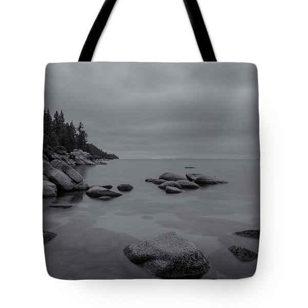 Tahoe In Black And White Tote Bag