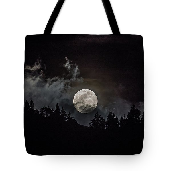 Tahoe Moon Cloud Tote Bag