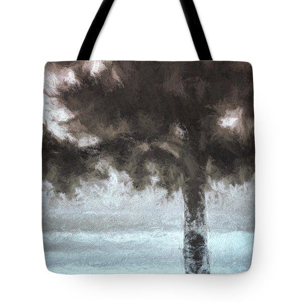 Tahoe Pine Painterly Effect Tote Bag