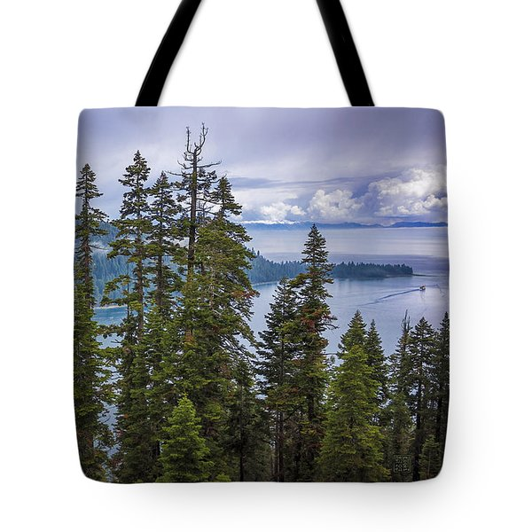 Tote Bag featuring the photograph Emerald Bay With Steamboat by Geoffrey C Lewis