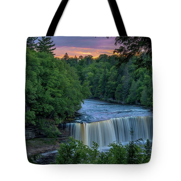 Tahquamenon Falls Sunset. Tote Bag