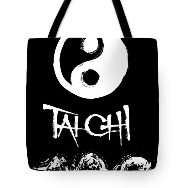 Tai Chi Black Tote Bag