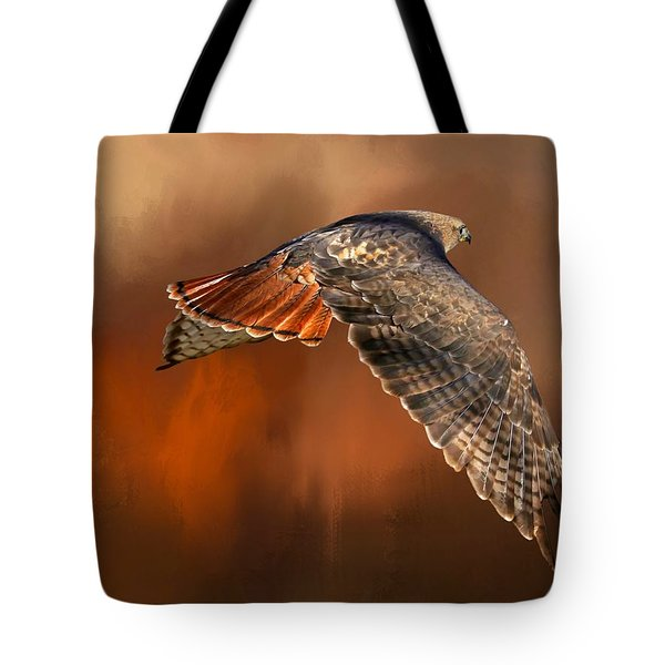 Tail Light On Tote Bag