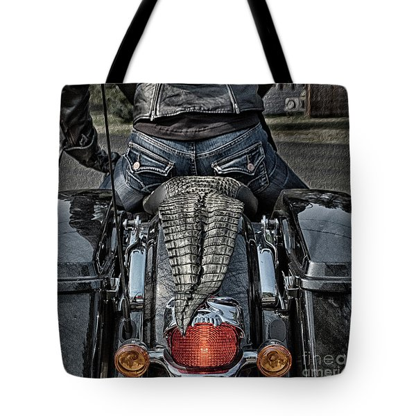 Tail Of The Dragon  Human Interest Art By Kaylyn Franks.  Tote Bag