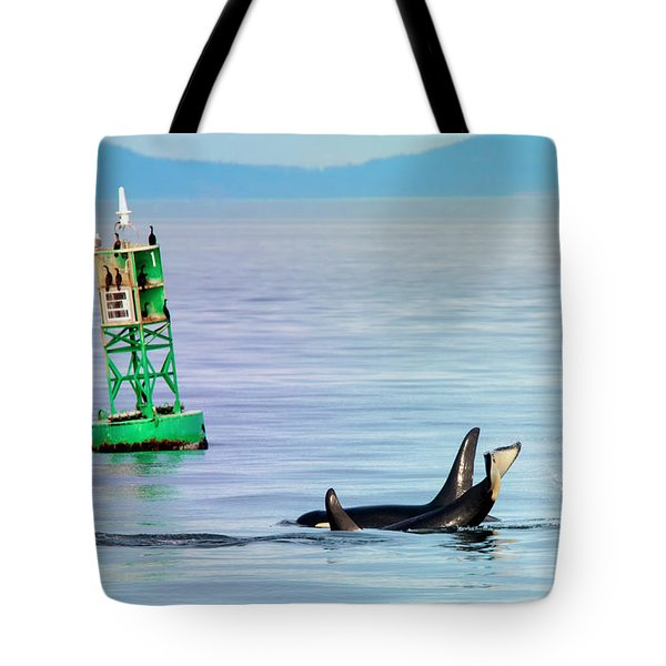 Tail Slap Tote Bag