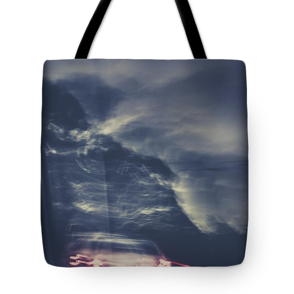Tailing Car Trails Tote Bag