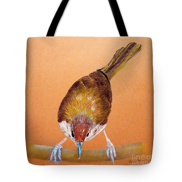 Tailor Bird Tote Bag by Jasna Dragun
