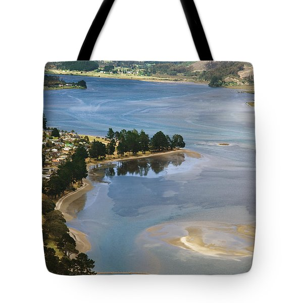 Tairua Harbour Tote Bag by Himani - Printscapes