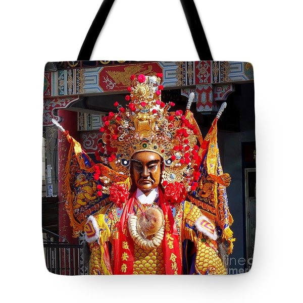 Tote Bag featuring the photograph Taiwan Temple Dancers by Yali Shi