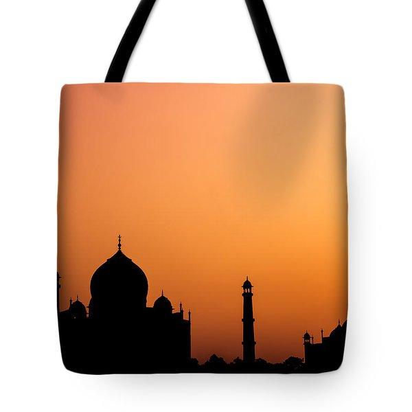 Taj Mahal Silhouette Tote Bag