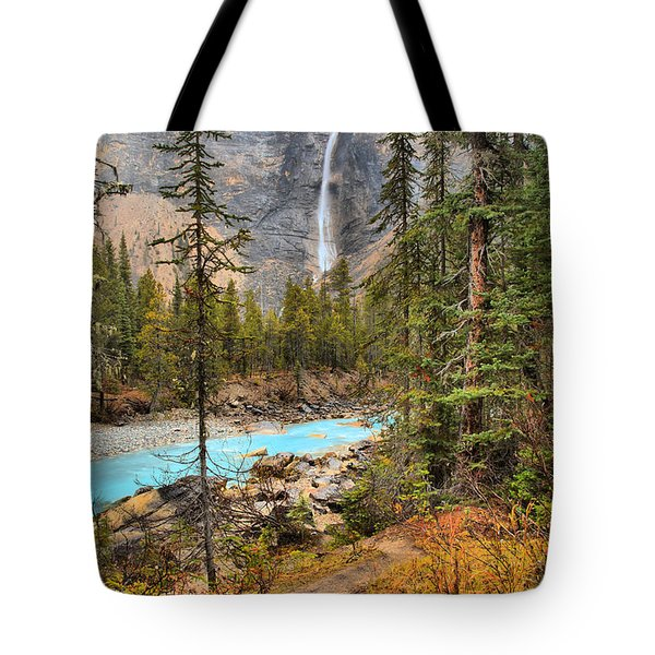 Tote Bag featuring the photograph Takakkaw Falls Fall Portrait by Adam Jewell