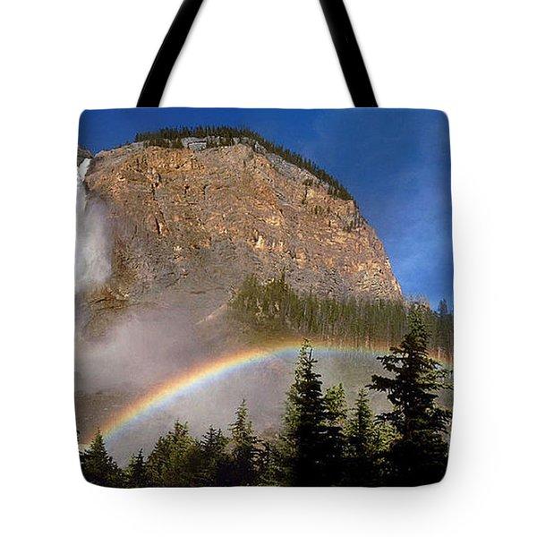 Takakkaw Falls B C Canada   Tote Bag