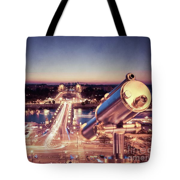 Tote Bag featuring the photograph Take A Look At Paris by Hannes Cmarits