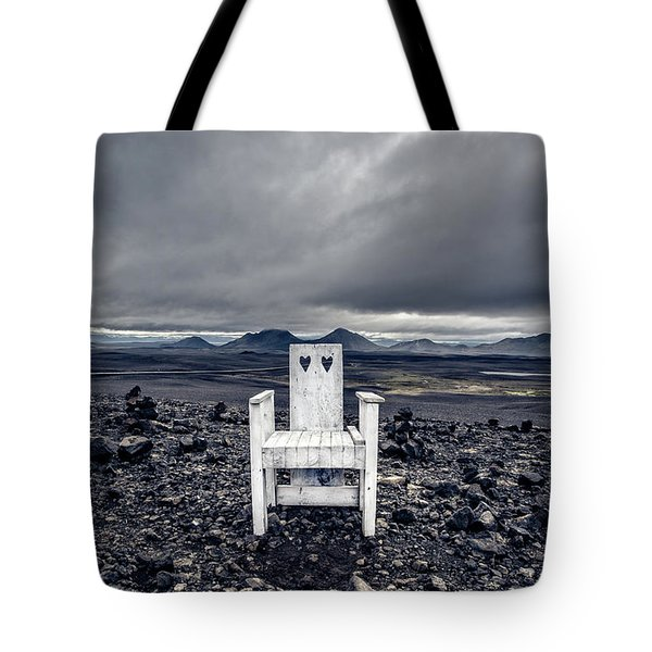 Tote Bag featuring the photograph Take A Seat Iceland by Edward Fielding