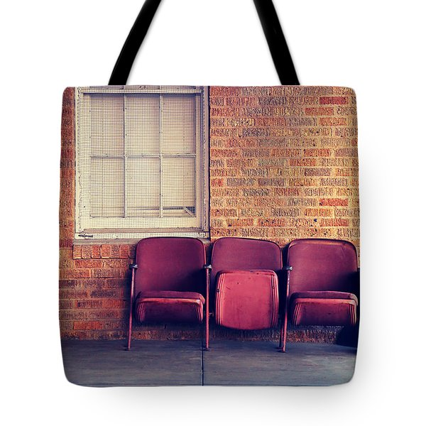 Tote Bag featuring the photograph Take A Seat by Trish Mistric