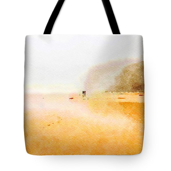 Tote Bag featuring the painting Take A Walk With Me by Angela Treat Lyon