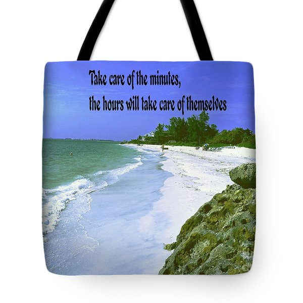 Take Care Of The Minutes Tote Bag by Gary Wonning