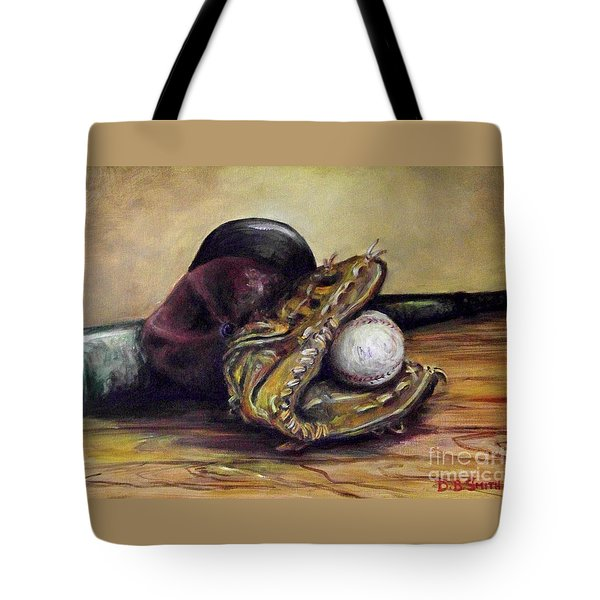 Take Me Out To The Ball Game Tote Bag by Deborah Smith
