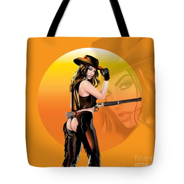 Tote Bag featuring the digital art Take Me To The Wild Wild West by Brian Gibbs