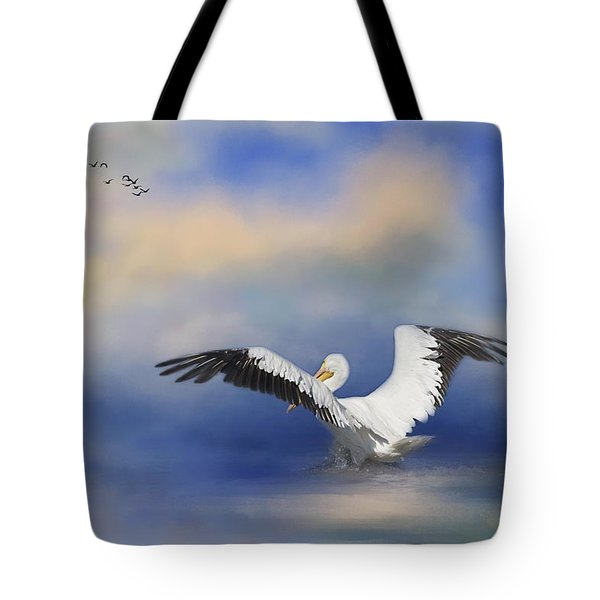 Tote Bag featuring the photograph Take Off By The Sea by Kim Hojnacki