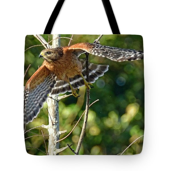 Tote Bag featuring the photograph Take Off by Don Durfee