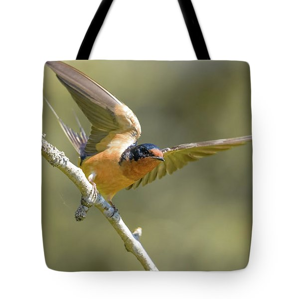 Tote Bag featuring the photograph Take Off by Kathy King