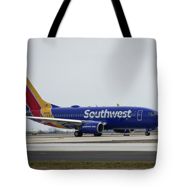 Take Off Southwest Airlines N7878a Hartsfield-jackson Atlanta International Airport Art Tote Bag