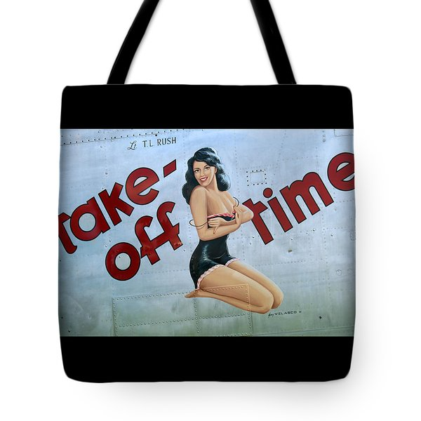 Take-off Time Tote Bag by Kathy Barney