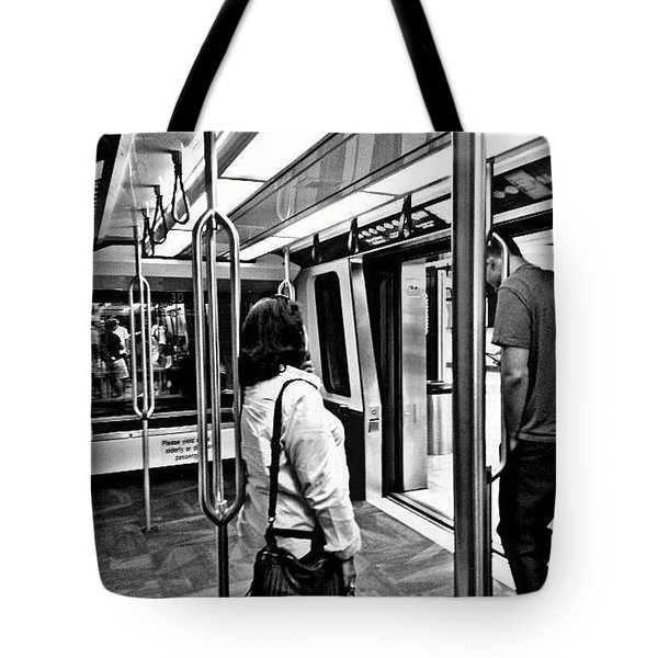 Tote Bag featuring the photograph Take The A Train by Artists With Autism Inc