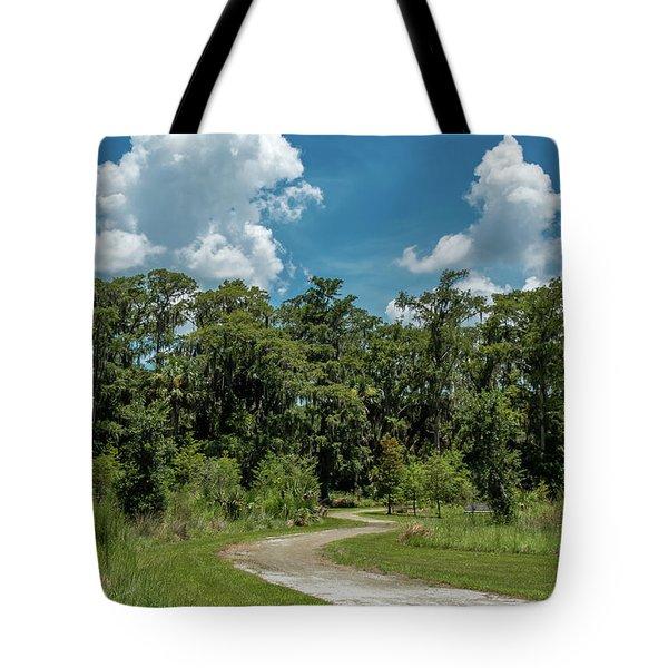 Take The Path Less Traveled Tote Bag
