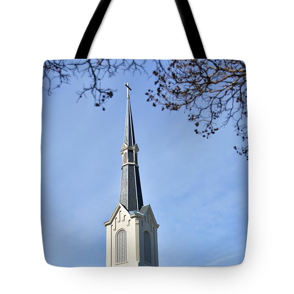 Take Your Burdens To The Cross, Church In Athens Georgia Tote Bag
