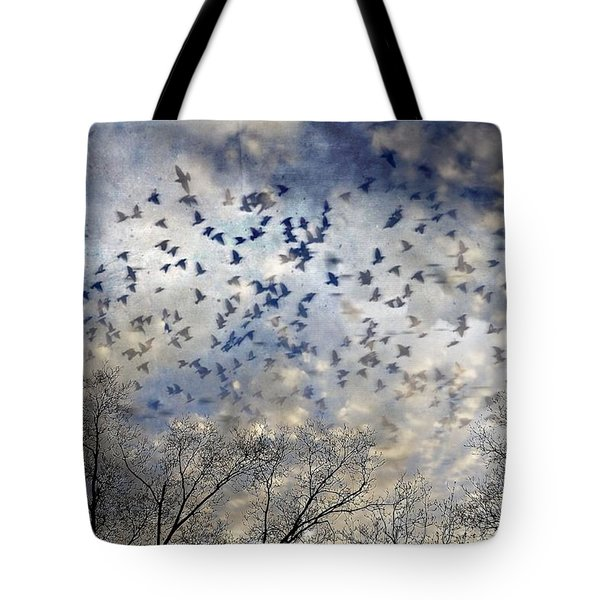 Tote Bag featuring the photograph Taken Flight by Jan Amiss Photography