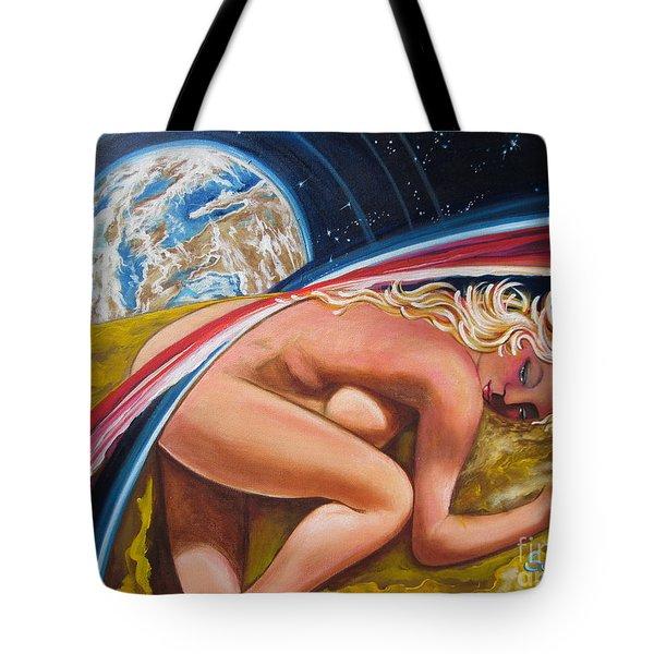 Moonresting Goddess Odins Wife   Tote Bag