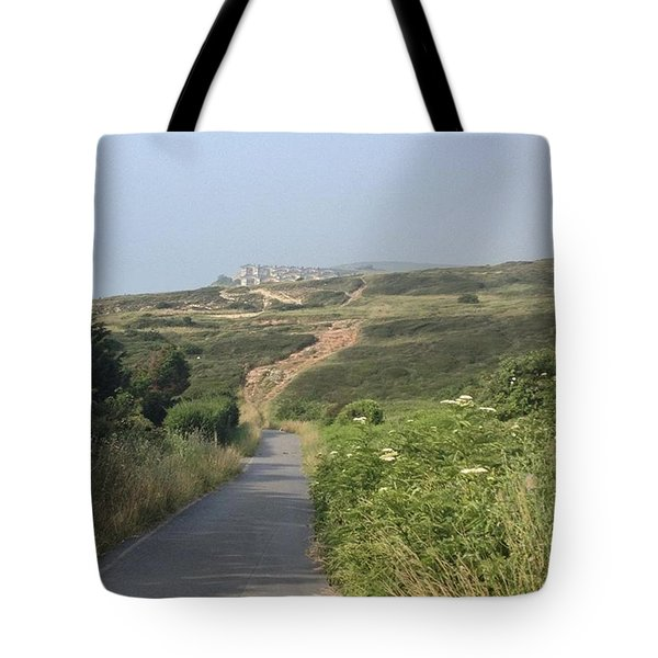 Taking A Stroll Down The The Beach Tote Bag