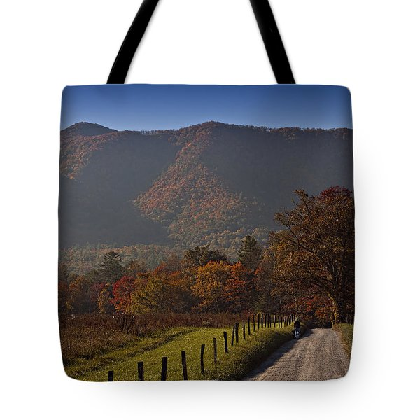 Taking A Walk Down Sparks Lane Tote Bag