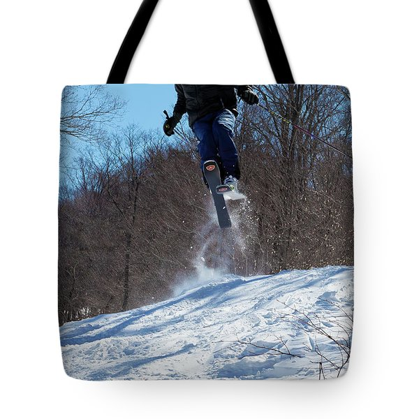 Tote Bag featuring the photograph Taking Air On Mccauley Mountain by David Patterson