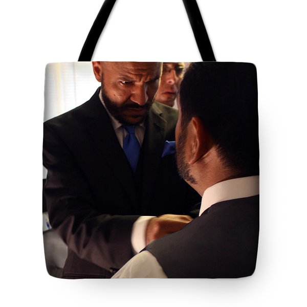 Taking Care Of Business Tote Bag by Ismael Cavazos