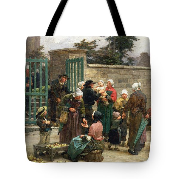 Taking In Foundlings Tote Bag by Leon Augustin Lhermitte