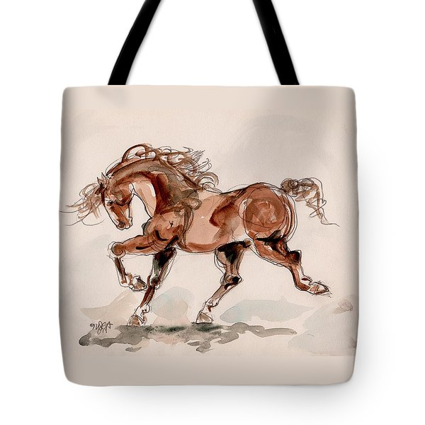 Taking Stride Tote Bag by Mary Armstrong