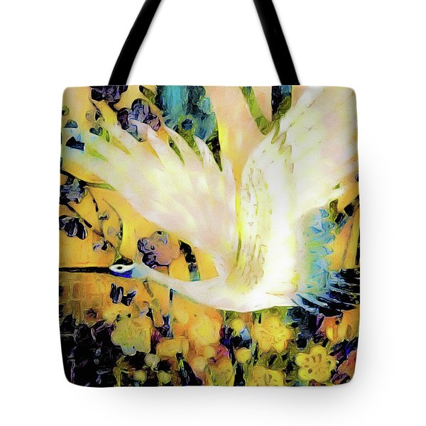 Taking Wing Above The Garden - Kimono Series Tote Bag