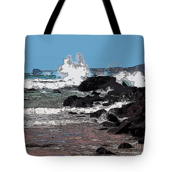 Takou Bay Digital Tote Bag