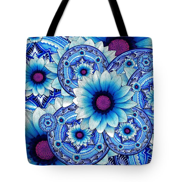 Tote Bag featuring the mixed media Talavera Alejandra by Christopher Beikmann