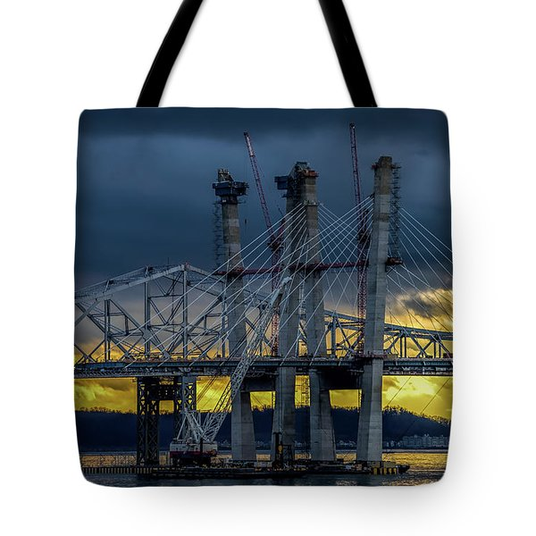 Tale Of 2 Bridges At Sunset Tote Bag by Jeffrey Friedkin