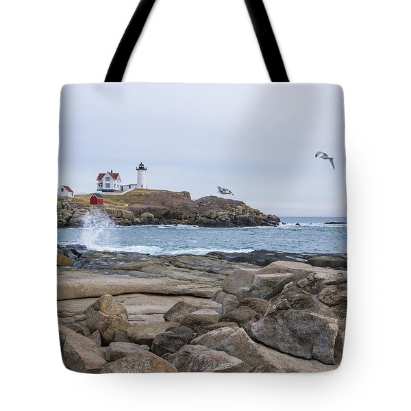 Tale Of Two Lighthouse Tote Bag