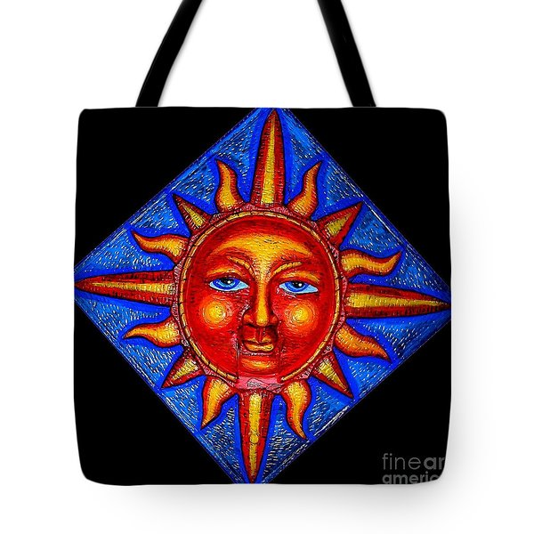 Talking Sun Tote Bag by Genevieve Esson